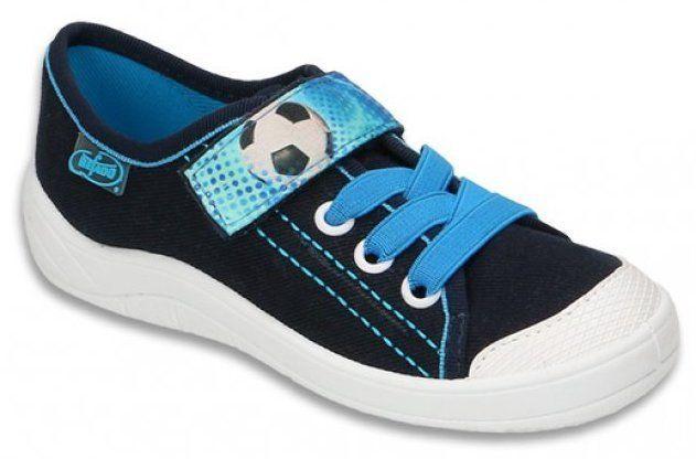 Befado Chlapčenské tenisky s futbalovou loptou Tim - tmavo modré značky  Befado - Lovely.sk abf3676099e