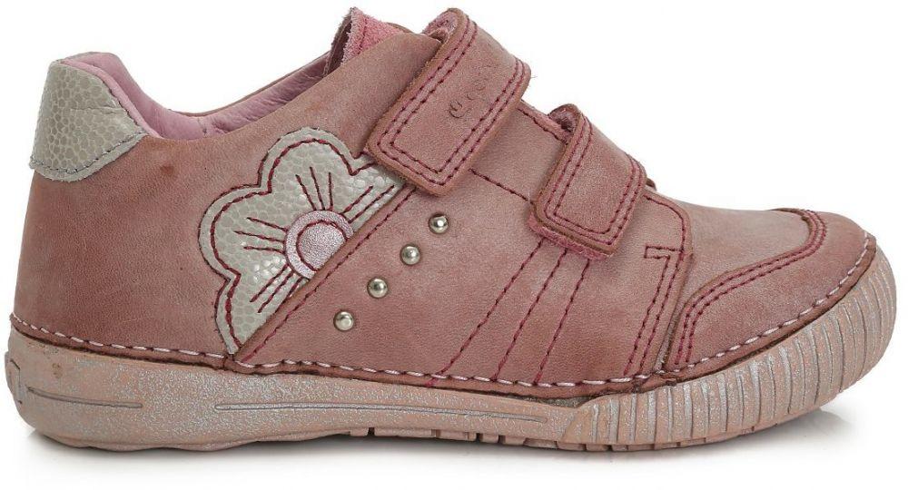 43b97d8d7 D.D.step Dievčenské členkové topánky s kvetinkou - ružové značky D.D.step -  Lovely.sk
