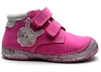 8f39595a4 D.D.step Dievčenské členkové topánky so zajačikom - ružové značky D.D.step  - Lovely.sk
