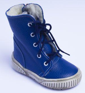 První krůčky Chlapčenské zimné topánky so šnúrkami - modré značky ... 27118d7a643