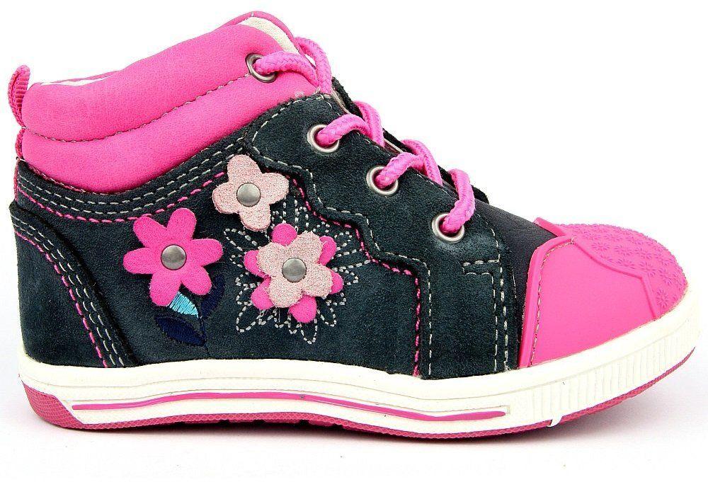 Protetika Dievčenské členkové topánky Helen - šedo-ružové značky ... a3bd2da8118