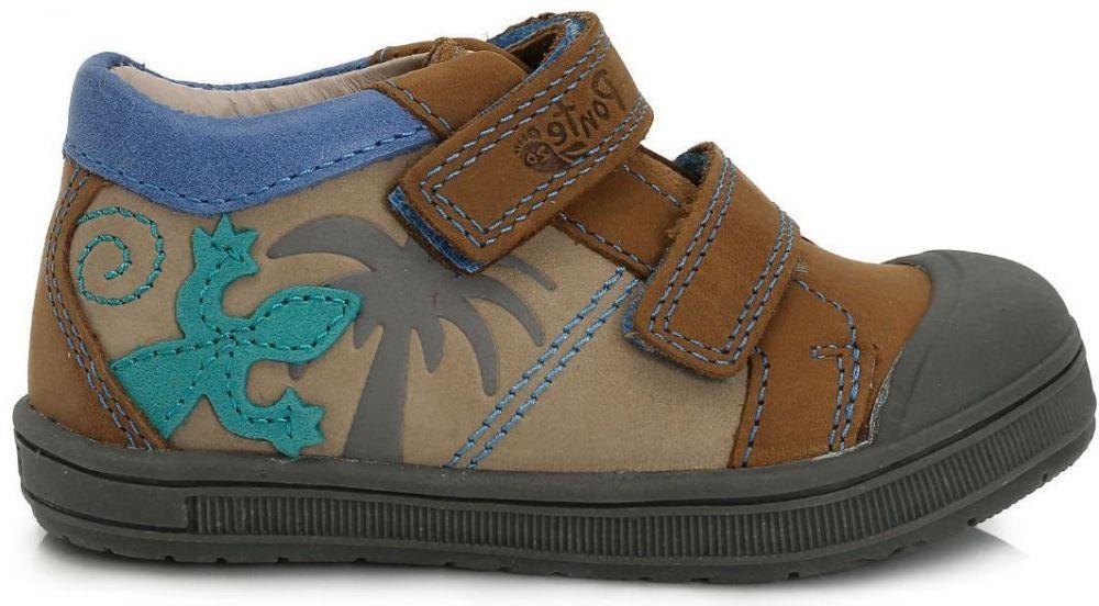 72df22325 Ponte 20 Chlapčenské kožené topánky s jaštericou - hnedé značky Ponte 20 -  Lovely.sk