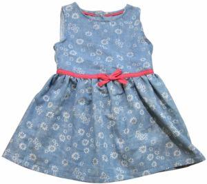 Carodel Dievčenské riflové šaty s kvietkami - svetlo modré 60a7d86408d