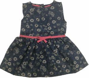 Carodel Dievčenské riflové šaty s kvietkami - modré 86f428bb795