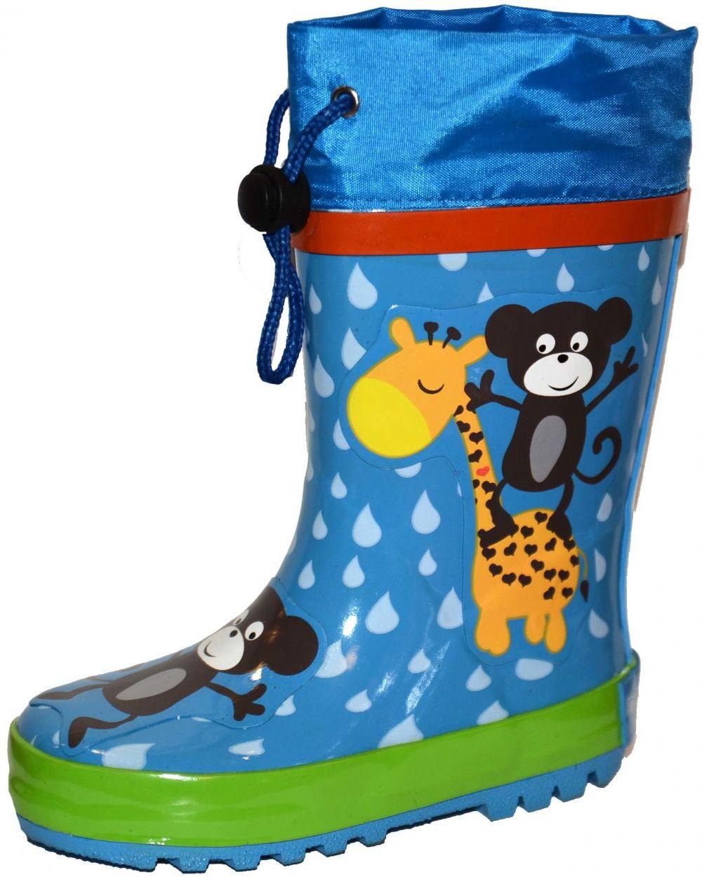 6bc7199b72a80 PIDILIDI Detské čižmy s opičkami - modré značky PIDILIDI - Lovely.sk