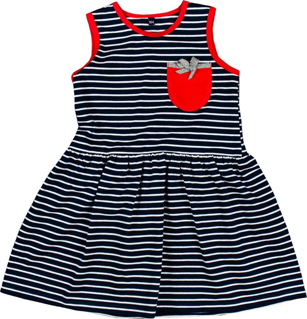 da9730686e59 MMDadak Dievčenské šaty Mewa s prúžkami - čierno-biele značky MMDadak -  Lovely.sk