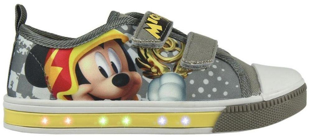 87e4e376b3e67 Disney Brand Chlapčenské blikajúce tenisky Mickey Mouse - šedé značky Disney  Brand - Lovely.sk