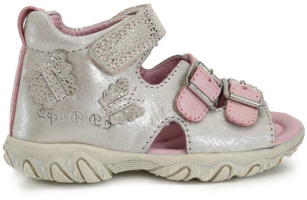 b22f6b363e8e D.D.step Dievčenské sandále s motýlikom - strieborné značky D.D.step ...