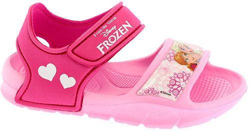 f844f248f54c Disney by Arnetta Dievčenské gumové sandále Frozen - ružové značky Disney  by Arnetta - Lovely.sk