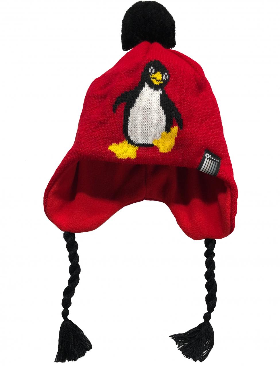 8aafae85d O'Style Dievčenská čiapka s tučniakom - červená značky O'Style ...