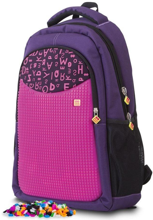 480d4dae7 PIXIE CREW Študentský batoh purpurové písmená značky PIXIE CREW ...