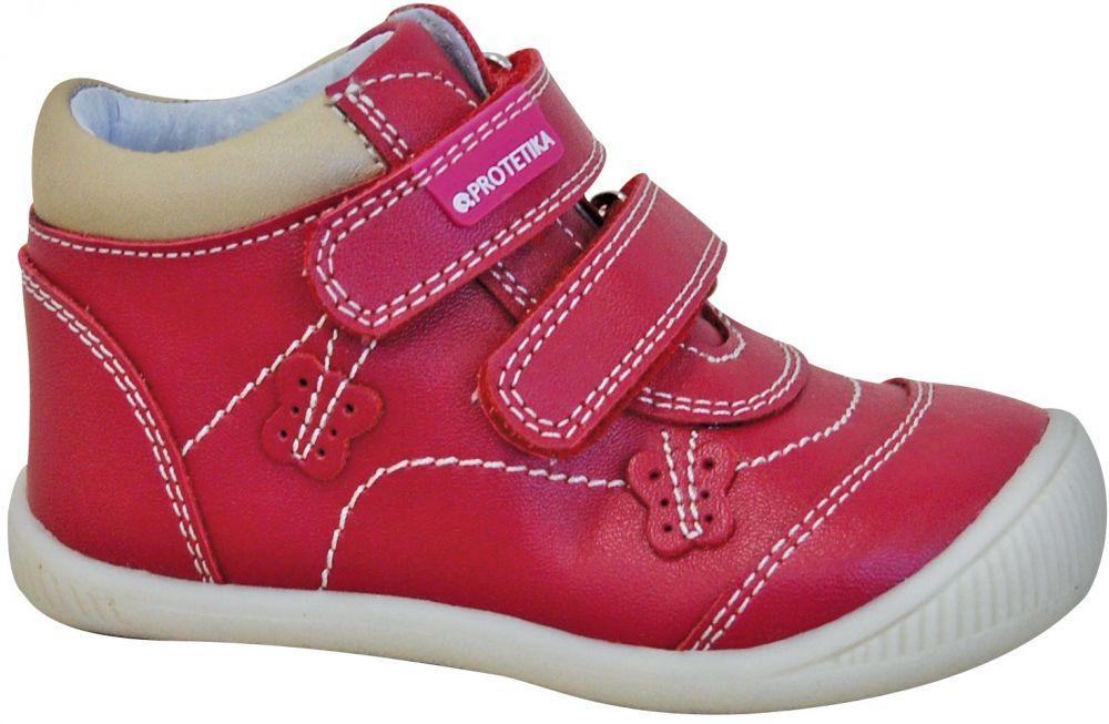 9992e3c68ed8 Protetika Dievčenské členkové topánky Fia - červené značky Protetika -  Lovely.sk