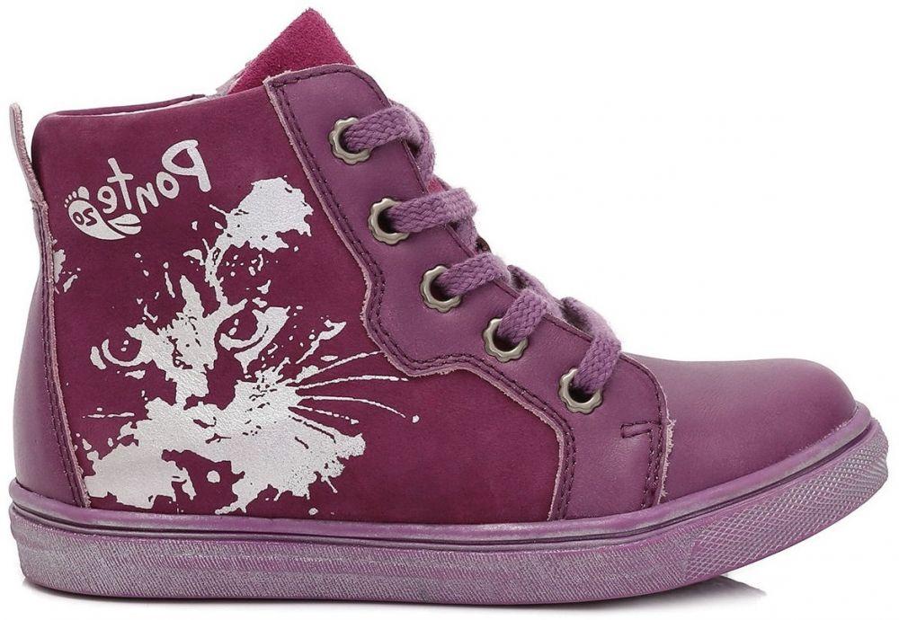 a69a135a241cb Ponte 20 Dievčenské kožené topánky - fialové značky Ponte 20 - Lovely.sk