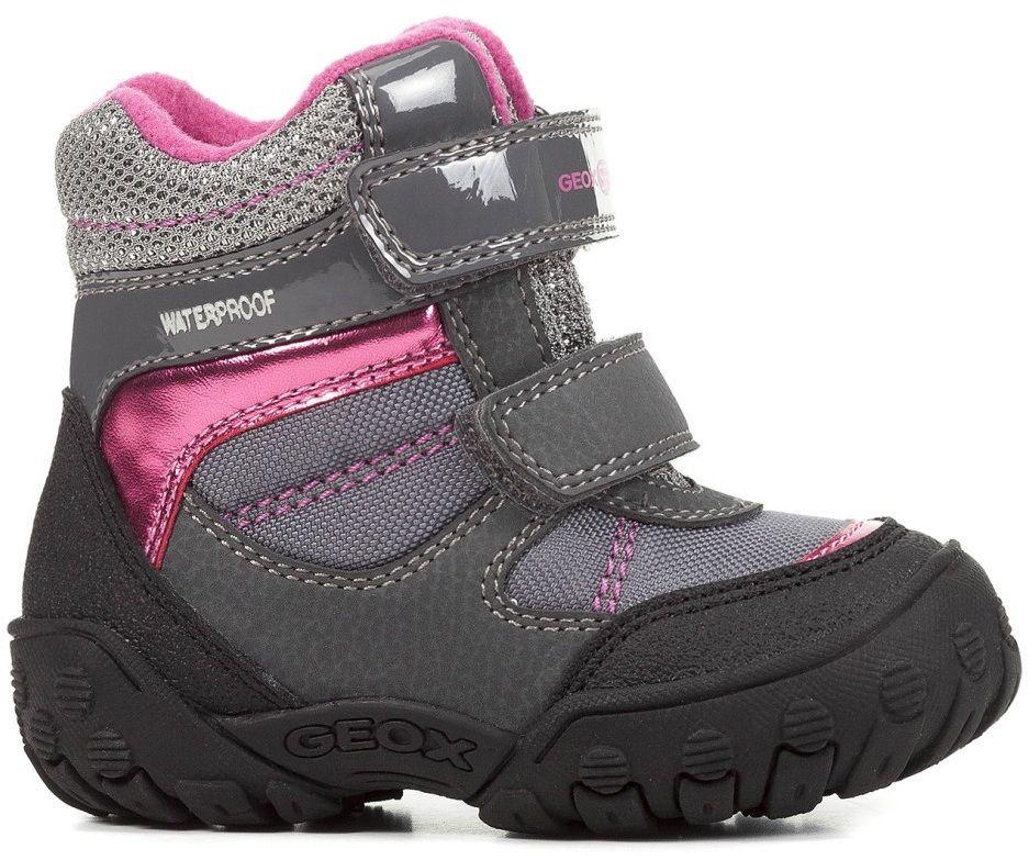Geox Dievčenské zimné topánky Gulp - šedé značky Geox - Lovely.sk 97e6159f5c