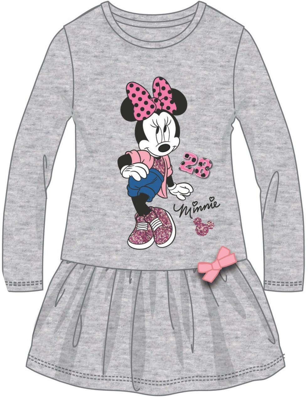 0b106e5a1865 Disney by Arnetta Dievčenské šaty Minnie - šedé značky Disney by Arnetta -  Lovely.sk
