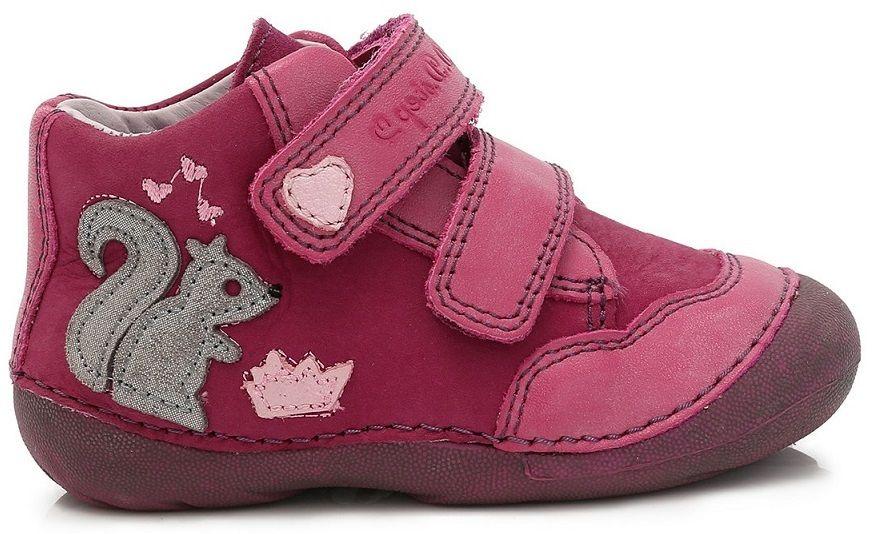 f1f8d5da89 D.D.step Dievčenské členkové topánky s veveričkou - fialové značky D.D.step  - Lovely.sk