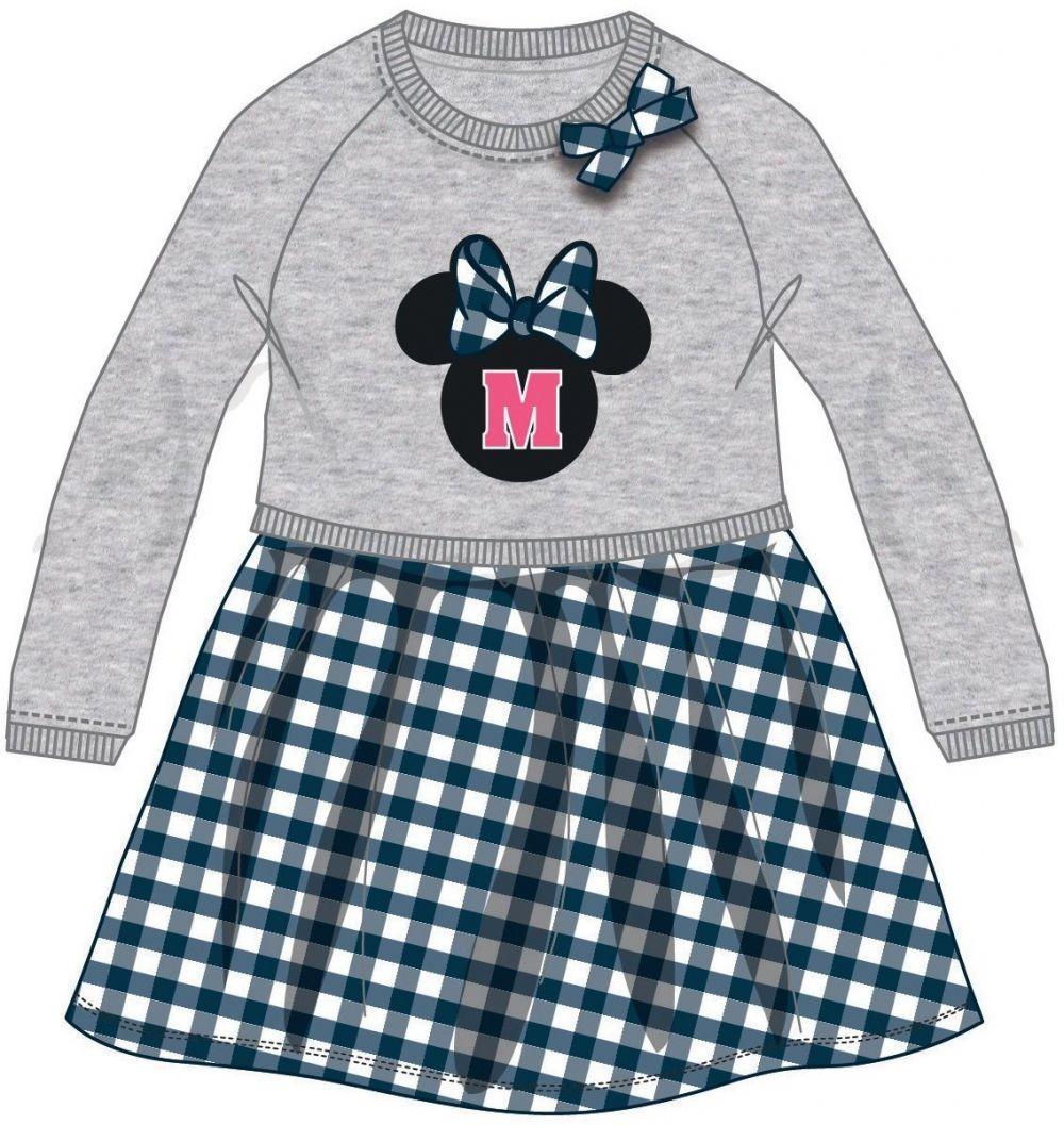 61e506218cad Disney by Arnetta Dievčenské šaty Minnie - šedo-modré značky Disney by  Arnetta - Lovely.sk