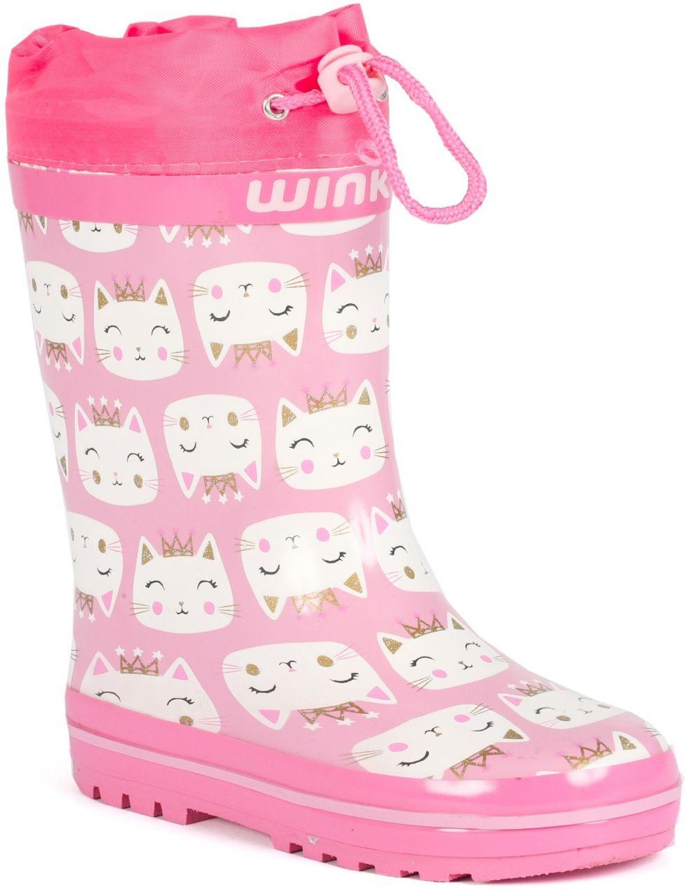 218cd4550af6 Wink Dievčenské gumáky s mačičkou - ružové značky Wink - Lovely.sk