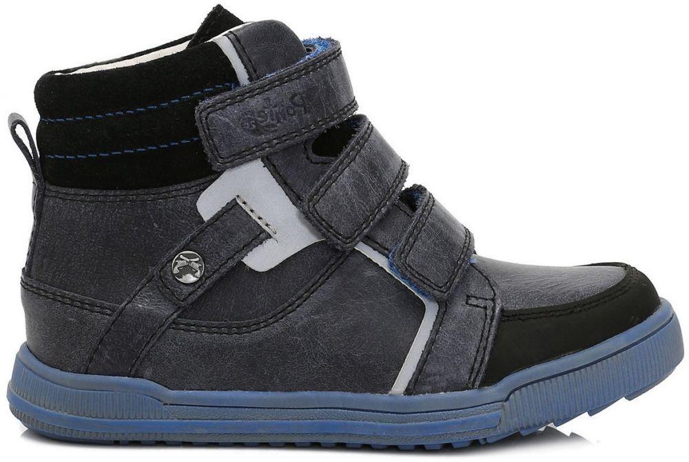 5deca220d Ponte 20 Chlapčenské kožené topánky - šedo-modré značky Ponte 20 - Lovely.sk