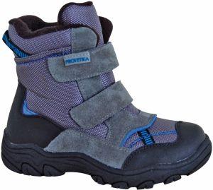 9b8c33f4891d Protetika Chlapčenské členkové topánky barefoot Maty - šedé značky ...