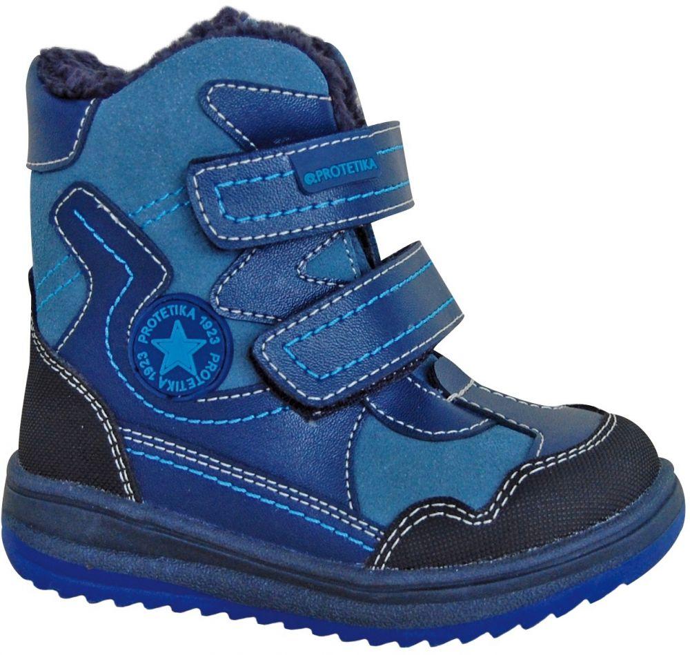 ab2bb4f14674 Protetika Chlapčenské zimné topánky Riki - modré značky Protetika ...