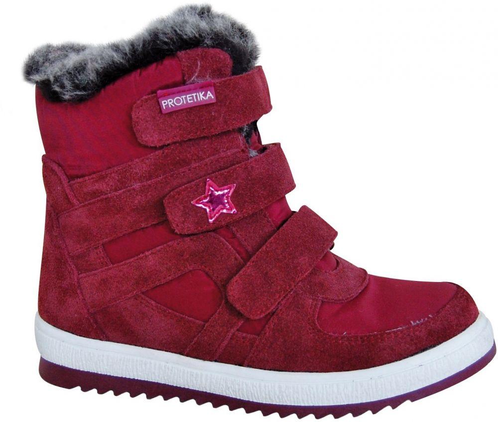 469b5927ca19 Protetika Dievčenské zimné topánky Peny - červené značky Protetika -  Lovely.sk