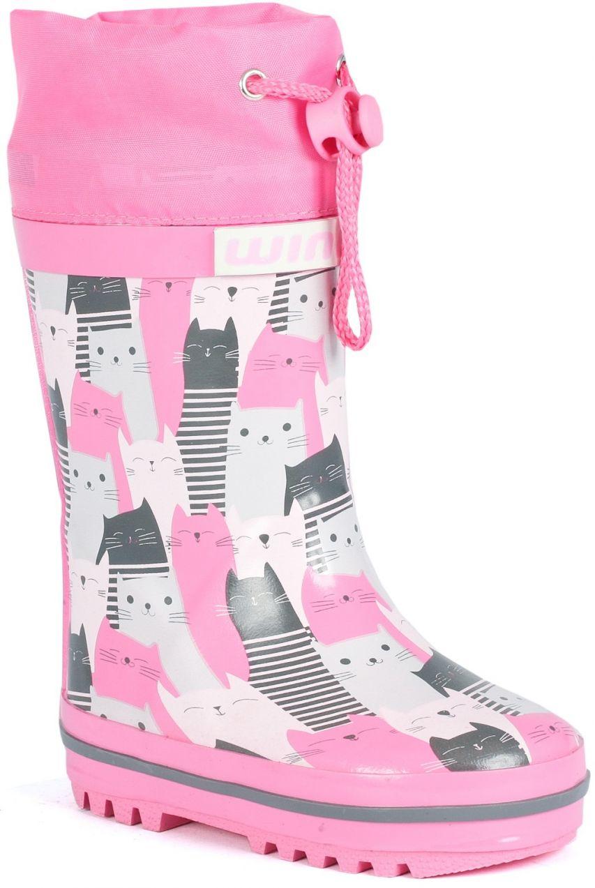 5522e82224d6 Wink Dievčenské gumáky s mačičkami - ružové značky Wink - Lovely.sk