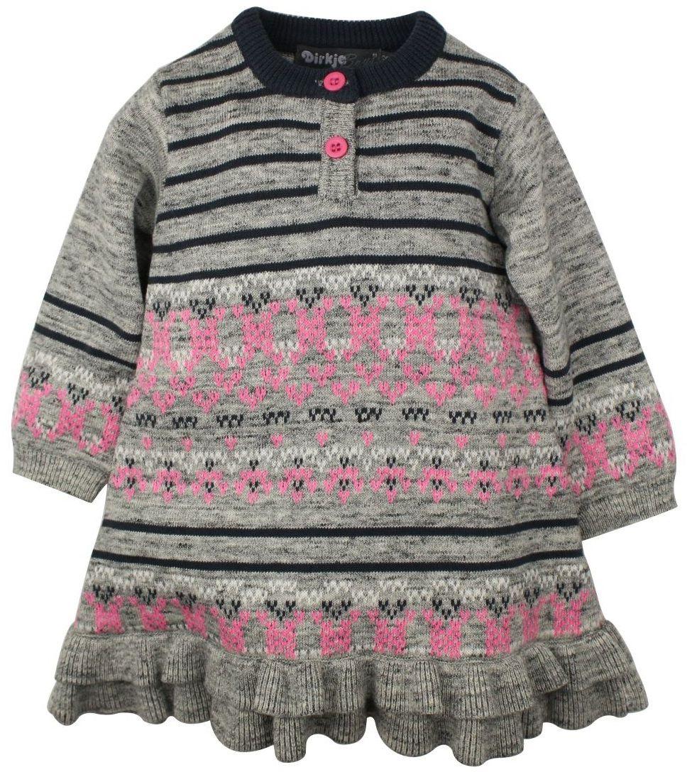 adb7f72e885b Dirkje Dievčenské pletené šaty - šedo-ružové značky Dirkje - Lovely.sk