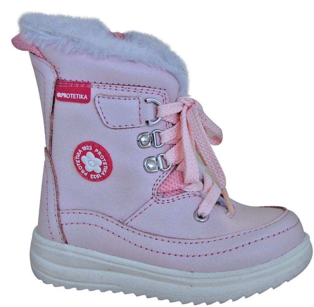 f81c04b94bd9 Protetika Dievčenské zimné topánky Bory - svetlo ružové značky Protetika -  Lovely.sk