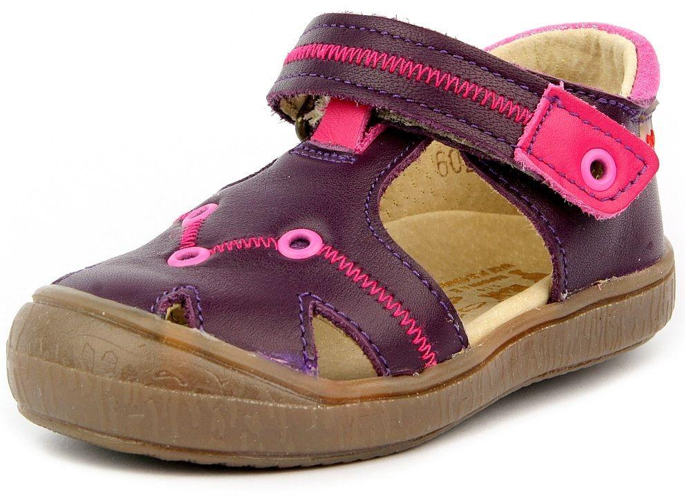 RAK Dievčenské kožené sandále Miranda - fialové značky RAK - Lovely.sk 7fcde82434c