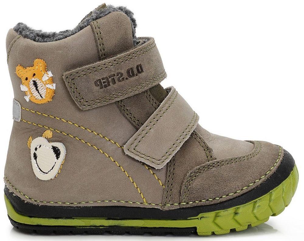 c93be21c57e9c D.D.step Chlapčenské zimné topánky so zvieratkami - šedá značky D.D.step -  Lovely.sk
