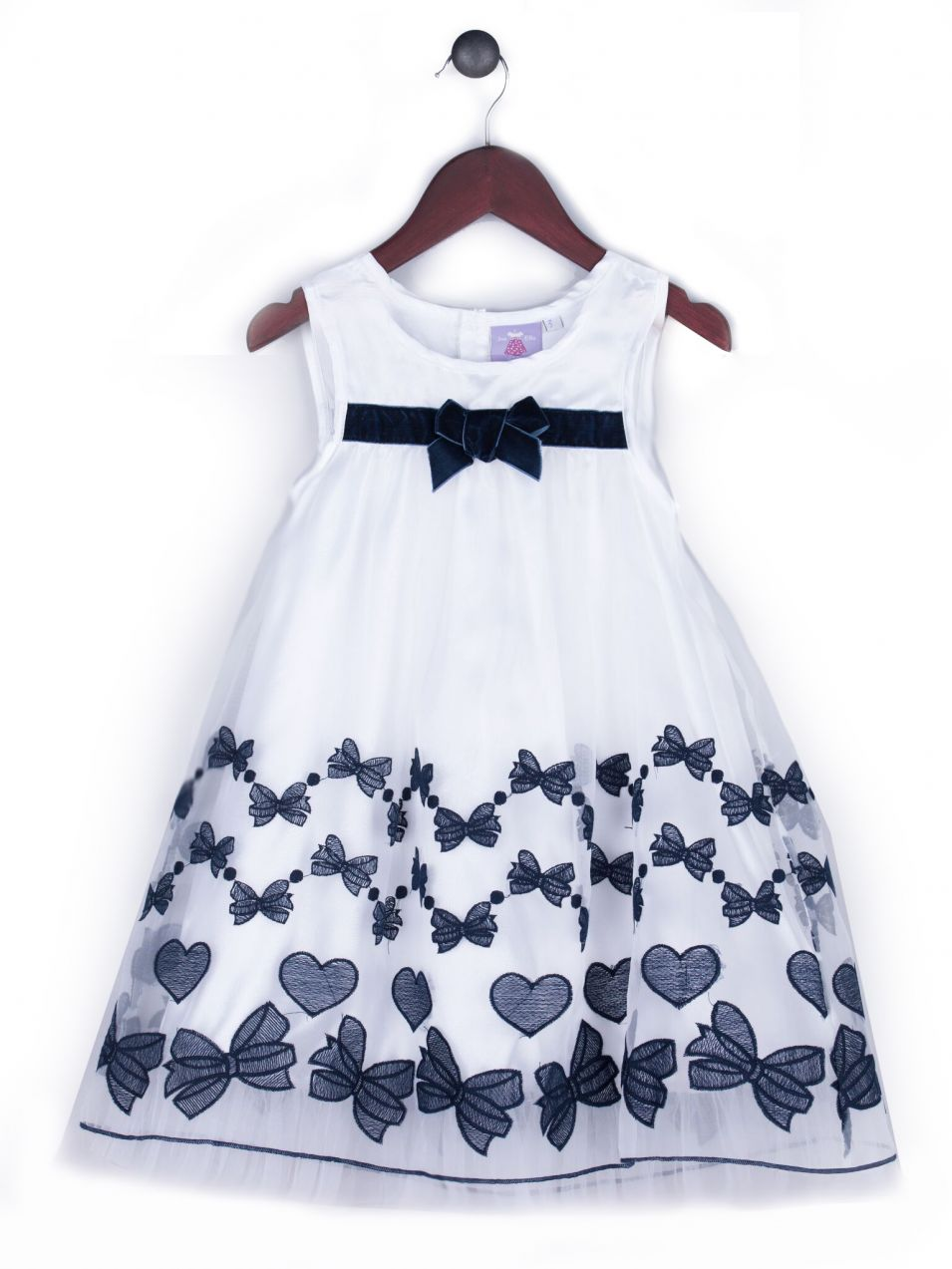 Joe and Ella Fashion Dievčenské šaty Adelle s mašličkami - bielo-čierne d953baf80b9
