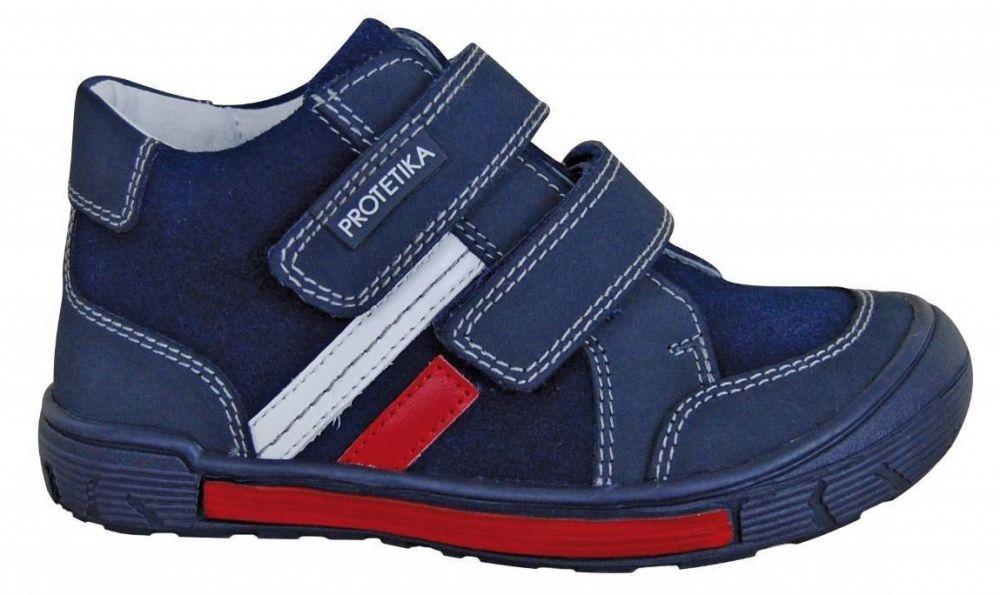 c29dfac917bb Protetika Chlapčenské kožené členkové topánky Ziper - tmavo modré značky  Protetika - Lovely.sk