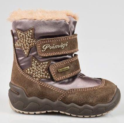6c07d549e31b9 Primigi Dievčenské zimné topánky - hnedé s hviezdou značky Primigi -  Lovely.sk