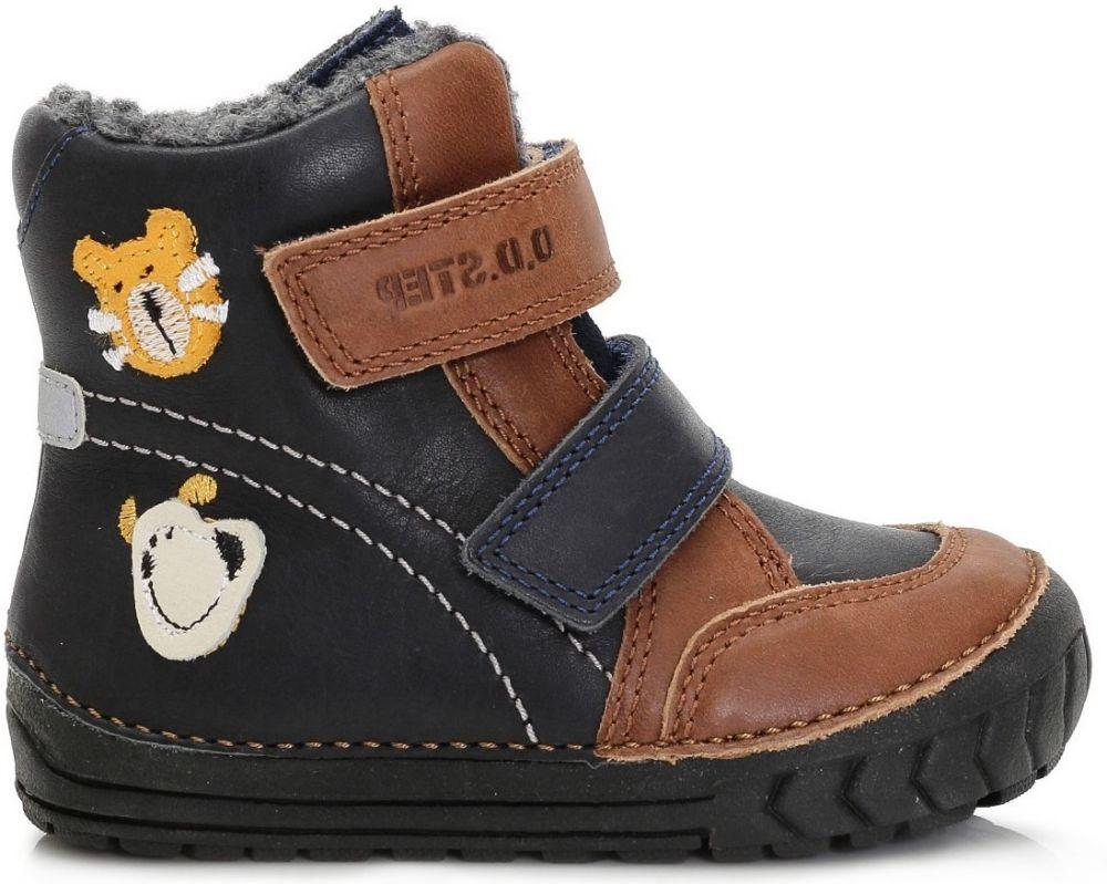 521c50730912e D.D.step Chlapčenské zimné topánky so zvieratkami - modro-hnedé značky  D.D.step - Lovely.sk