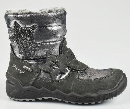 Primigi Dievčenské zimné topánky - šedé s hviezdou značky Primigi -  Lovely.sk 004c4ccd82