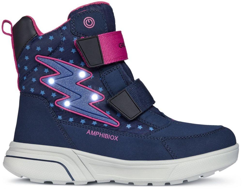4e41a0122 Geox Dievčenské svietiace zimné topánky Sveggen - modré značky Geox -  Lovely.sk