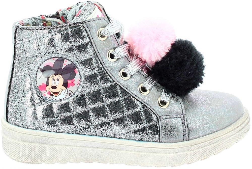 d2ded362aef60 Disney by Arnetta Dievčenské členkové topánky Minnie - strieborné značky  Disney by Arnetta - Lovely.sk
