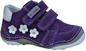 2f2775c9a56ac Ponte 20 Dievčenské kožené topánky s hviezdami - fialové značky ...