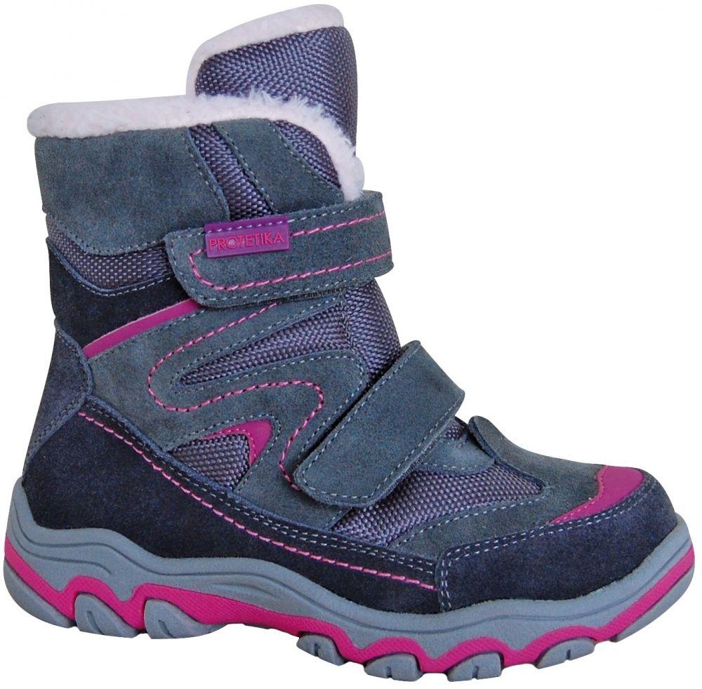 Protetika Dievčenské zimné topánky Donata - šedé značky Protetika -  Lovely.sk 0908ae4b47f