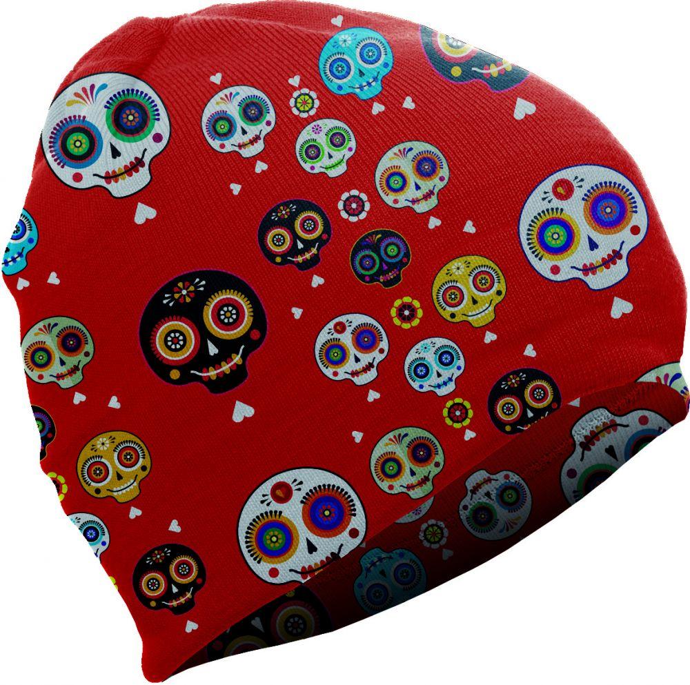 4597311b1 Matt Detská čiapka s lebkami 8696 - červená značky Matt - Lovely.sk