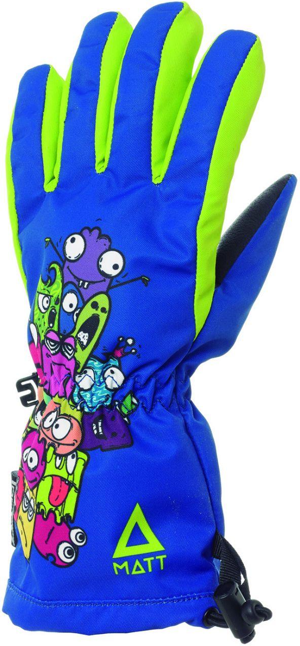Matt Chlapčenské lyžiarske rukavice s príšerkami 3214 - modré značky ... 302f0c9732d