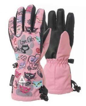 Matt Dievčenské lyžiarske rukavice s mačičkami 3216 - ružové značky ... c1d3abb3658
