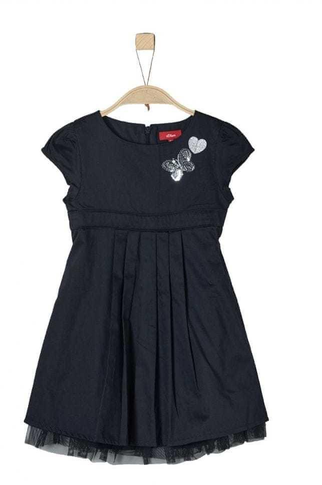 1277fbb89f8d s.Oliver Dievčenské šaty - čierne značky s.Oliver - Lovely.sk