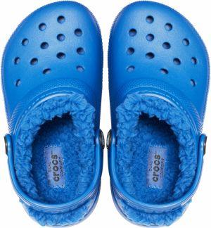 Crocs Chlapčenské zateplené sandále Kids  Classic Fuzz Lined Clog - modré  galéria 439f787f06