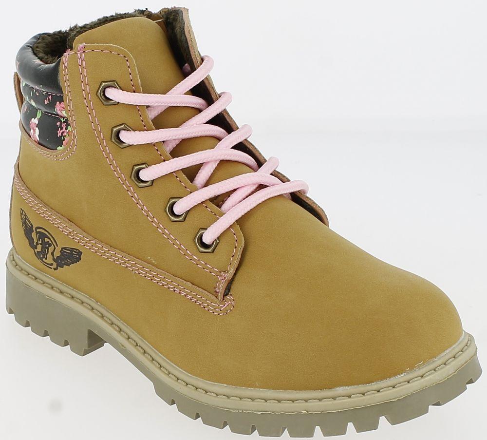 19642d374a4cb V+J Dievčenské zimné topánky - okrovej značky V+J - Lovely.sk