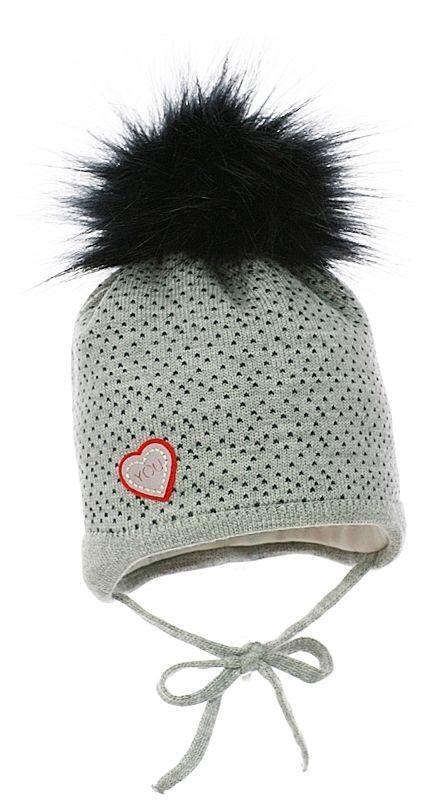 ef5b3a1fe Pupill Dievčenská čiapka Ingrid - šedá značky Pupill - Lovely.sk