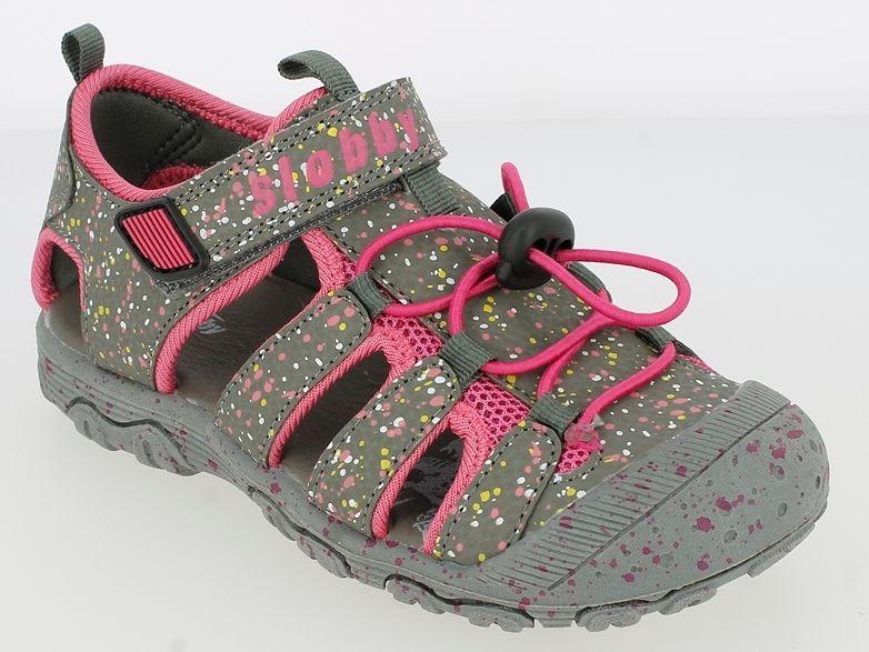 4ec5f5864ca4 V+J Dievčenské sandále - šedo-ružové značky V+J - Lovely.sk