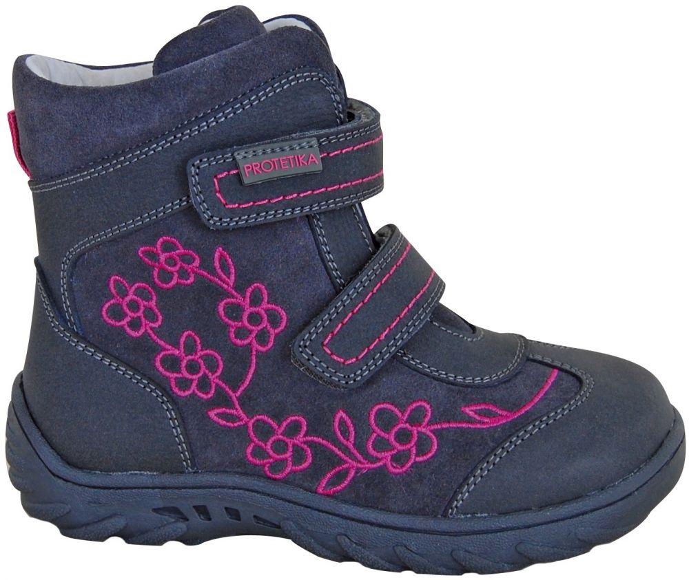 66be5be81c50 Protetika Dievčenské zimné topánky Miri - modro-šedé značky Protetika -  Lovely.sk