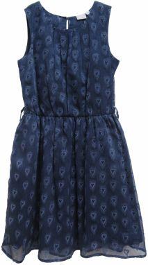 Topo Dievčenské šaty so srdiečkom - tmavo modré značky Topo - Lovely.sk 5896b995ad6